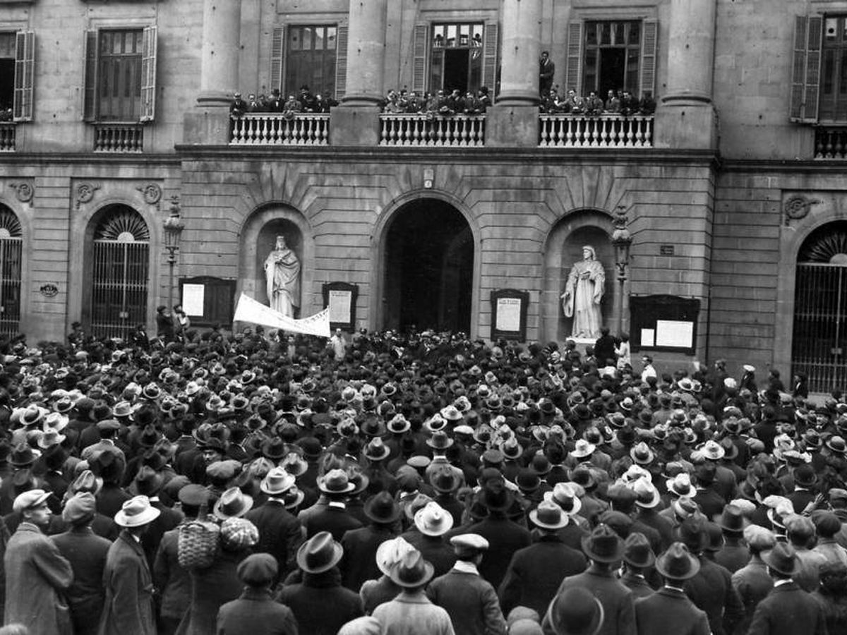 Foto: Huelga de la Canadiense en Barcelona en 1919. (El Confidencial)