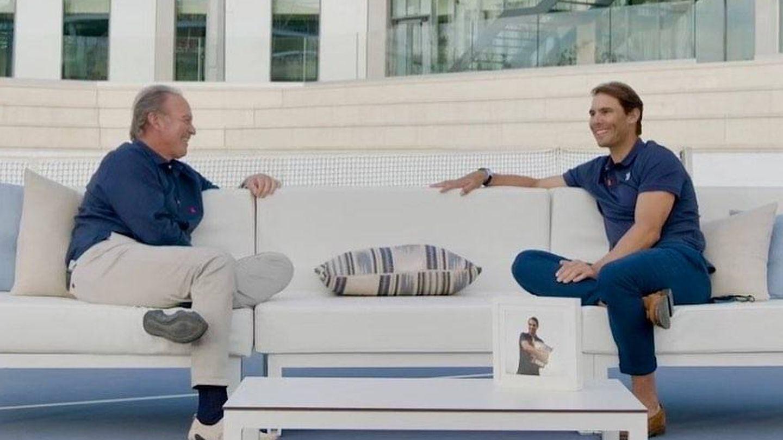 Bertín y Nadal, en el programa de Tele 5. (Mediaset)