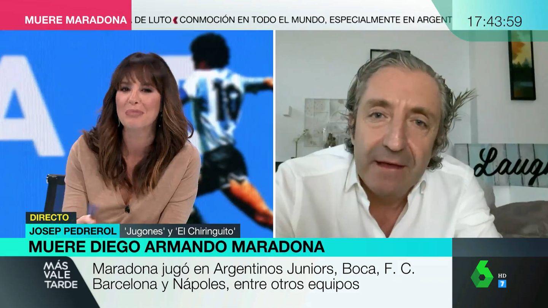 Mamen Mendizabal, con Pedrerol. (Atresmedia)