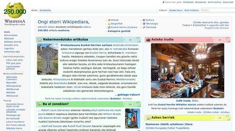 Urkullu impulsa la Wikipedia en euskera para que la lengua vasca gane peso digital
