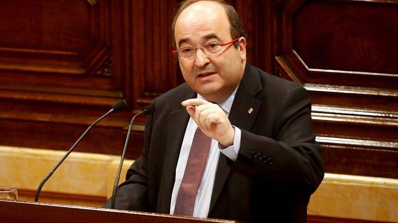Miquel Iceta, en el Parlament. (EFE)