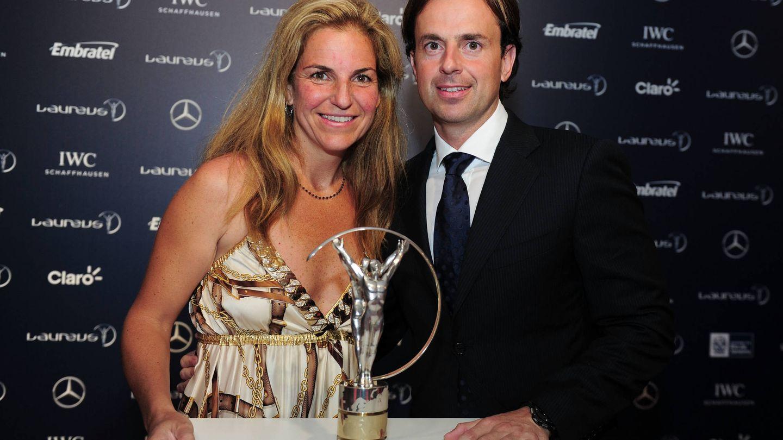 Arantxa Sánchez Vicario y Pep Santacana, en los Premios Laureus. (Getty)