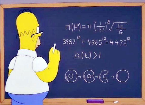 Foto: La ecuación de Homer en un episodio de 'Los Simpson' de 1998 casi desvela la verdad sobre el bosón de Higgs 14 años antes que la ciencia