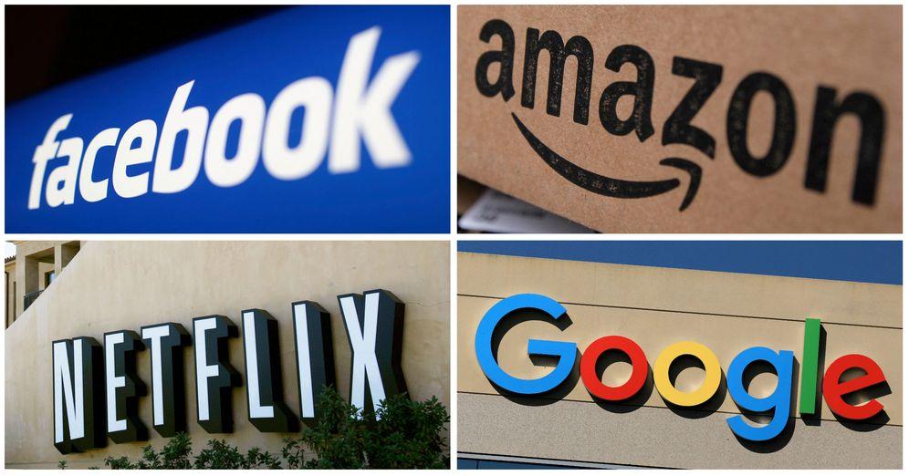 Foto: Facebook, Amazon, Netflix y Google. (Reuters)