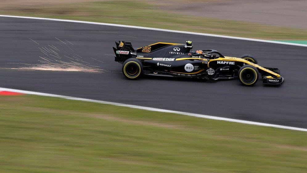 Foto: Carlos Sainz durante los entrenamientos del GP de Japón. (Reuters)