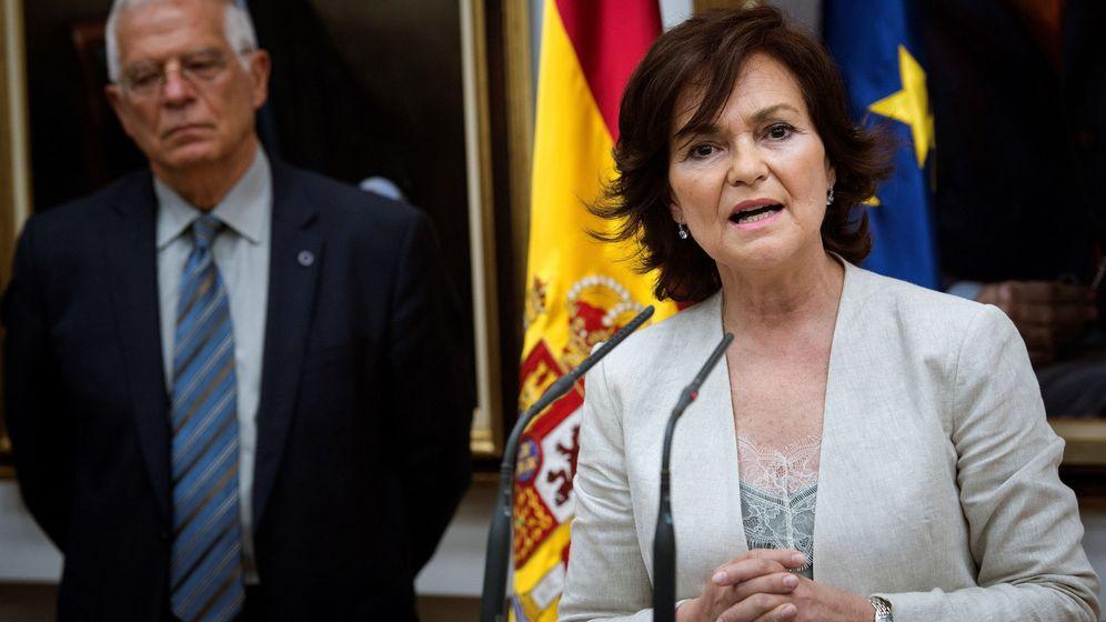 Foto: La vicepresidenta del Gobierno, ministra de la Presidencia, Relaciones con las Cortes e Igualdad, Carmen Calvo. (EFE)