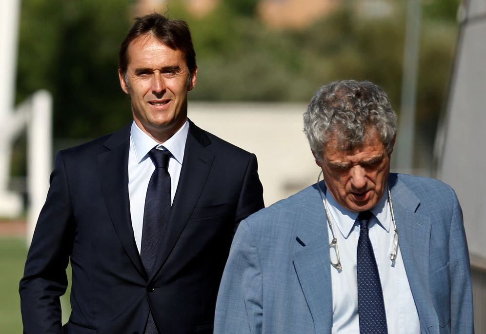 Foto: En la imagen, Julen Lopetegui y Ángel María Villar. (Reuters)