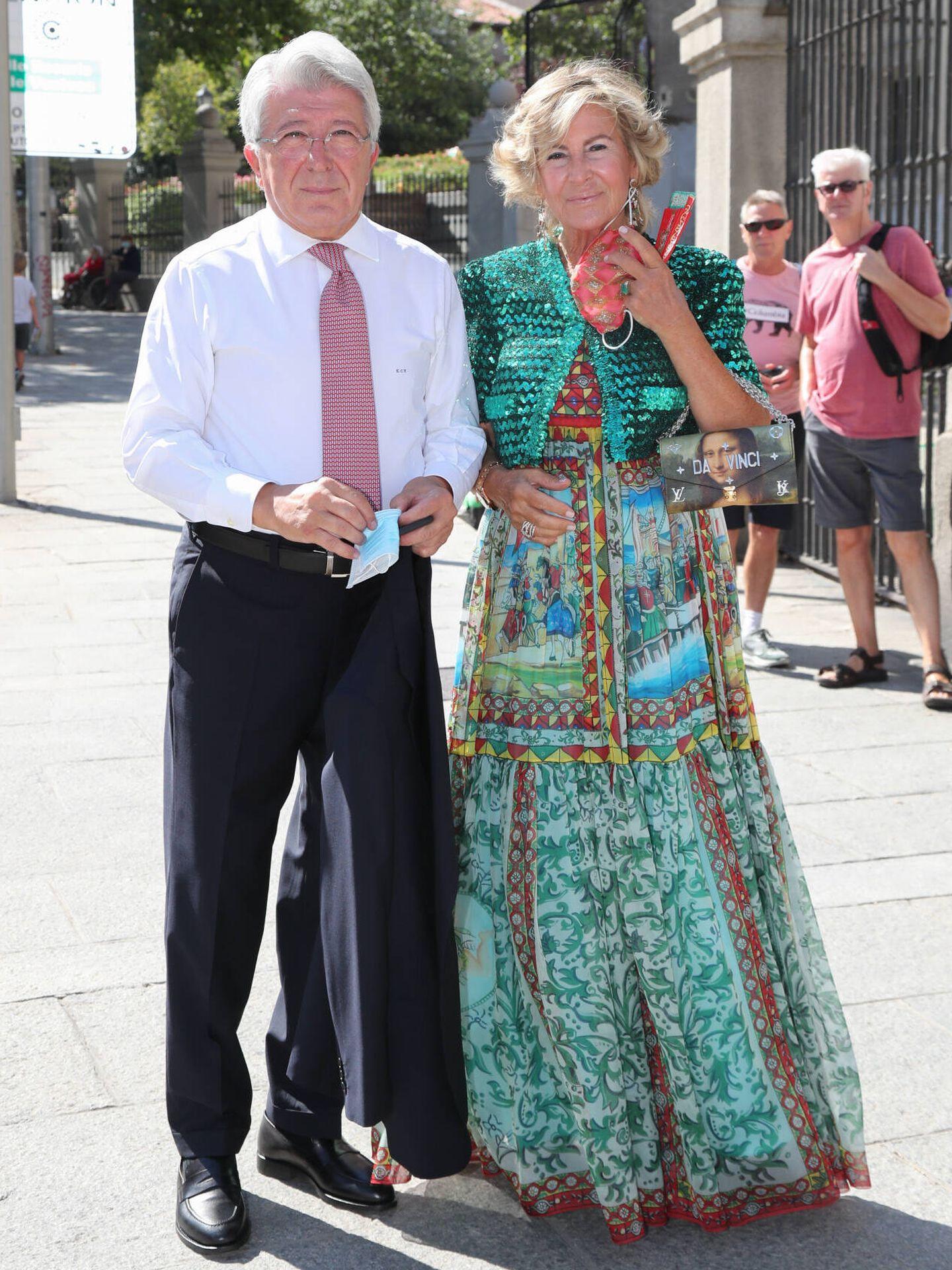 Enrique Cerezo con su mujer, María Jesús de Frutos. (Gtres)