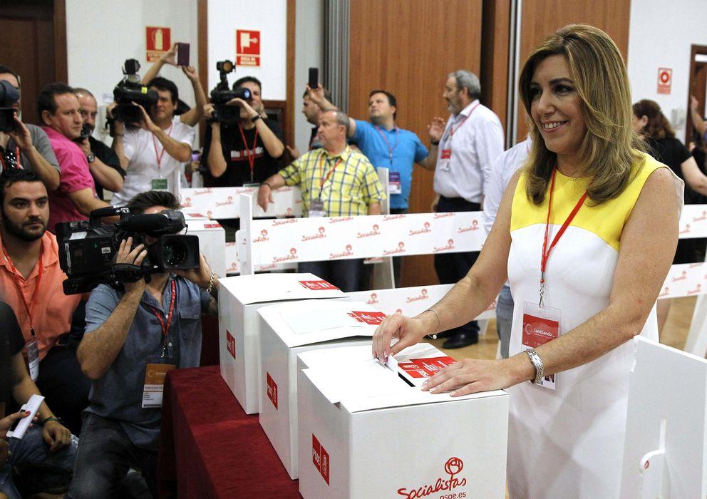 Foto: Susana Díaz, en el congreso extraordinario del PSOE (Efe)