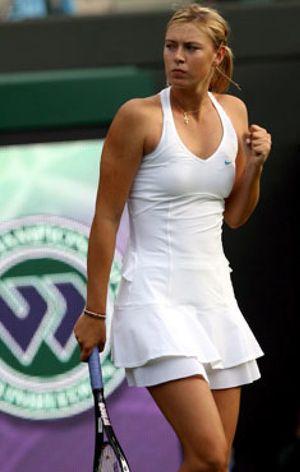 El vestido de la Sharapova, otro atractivo de la cancha
