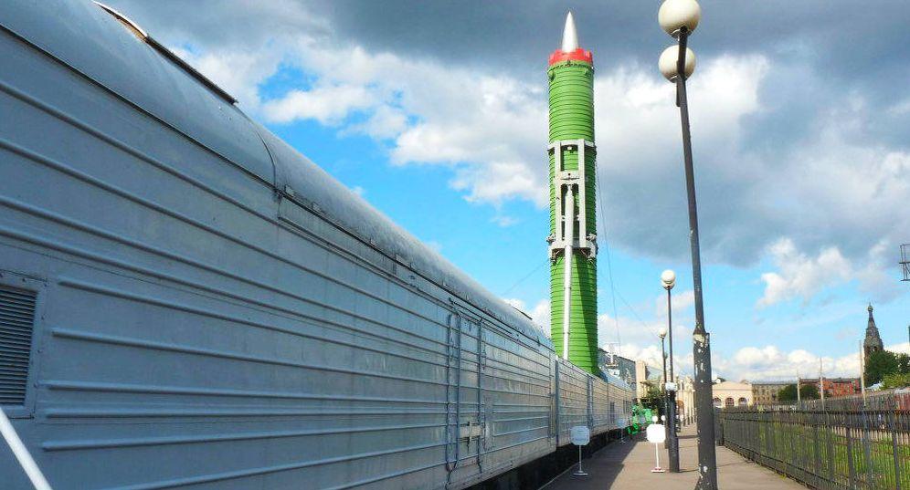 Foto: El misil ruso ferroviario RT-23 Molodets, un sistema que ahora está siendo actualizado