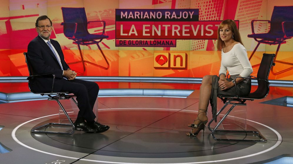 Foto: El presidente del Gobierno, Mariano Rajoy en su entrevista con Gloria Lomana. (EFE)