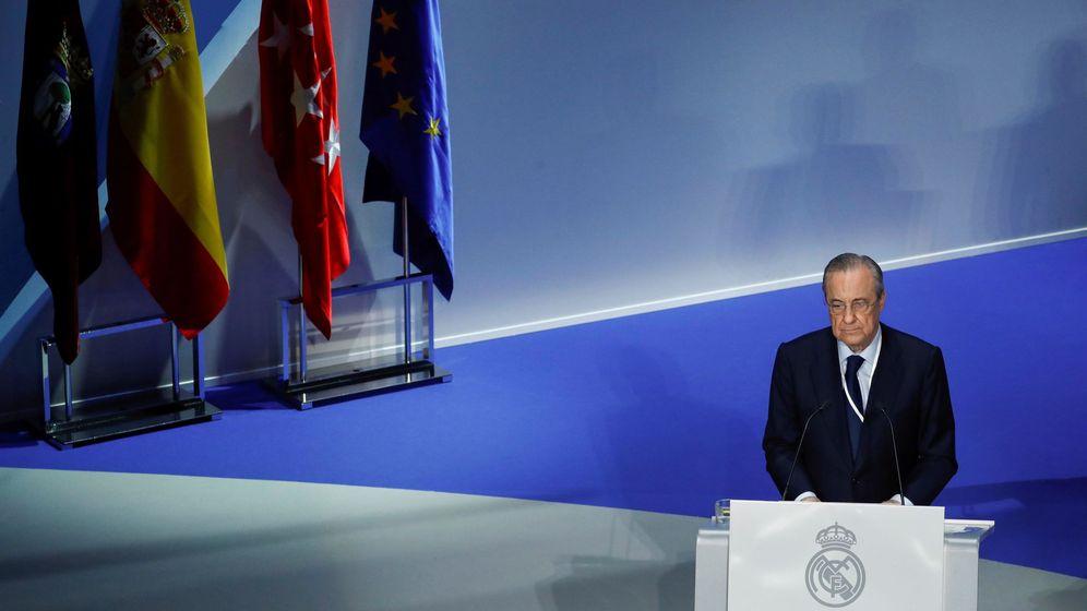 Foto: Florentino Pérez, en la asamblea para la aprobación del crédito para la reforma del Bernabéu.