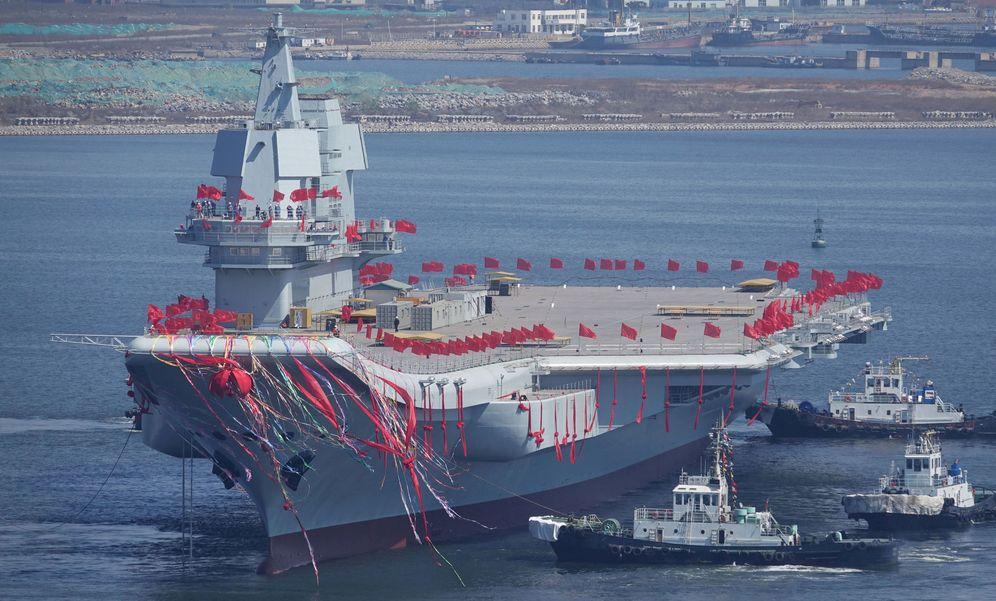 Foto: Portaaviones Type 001A. (Reuters)