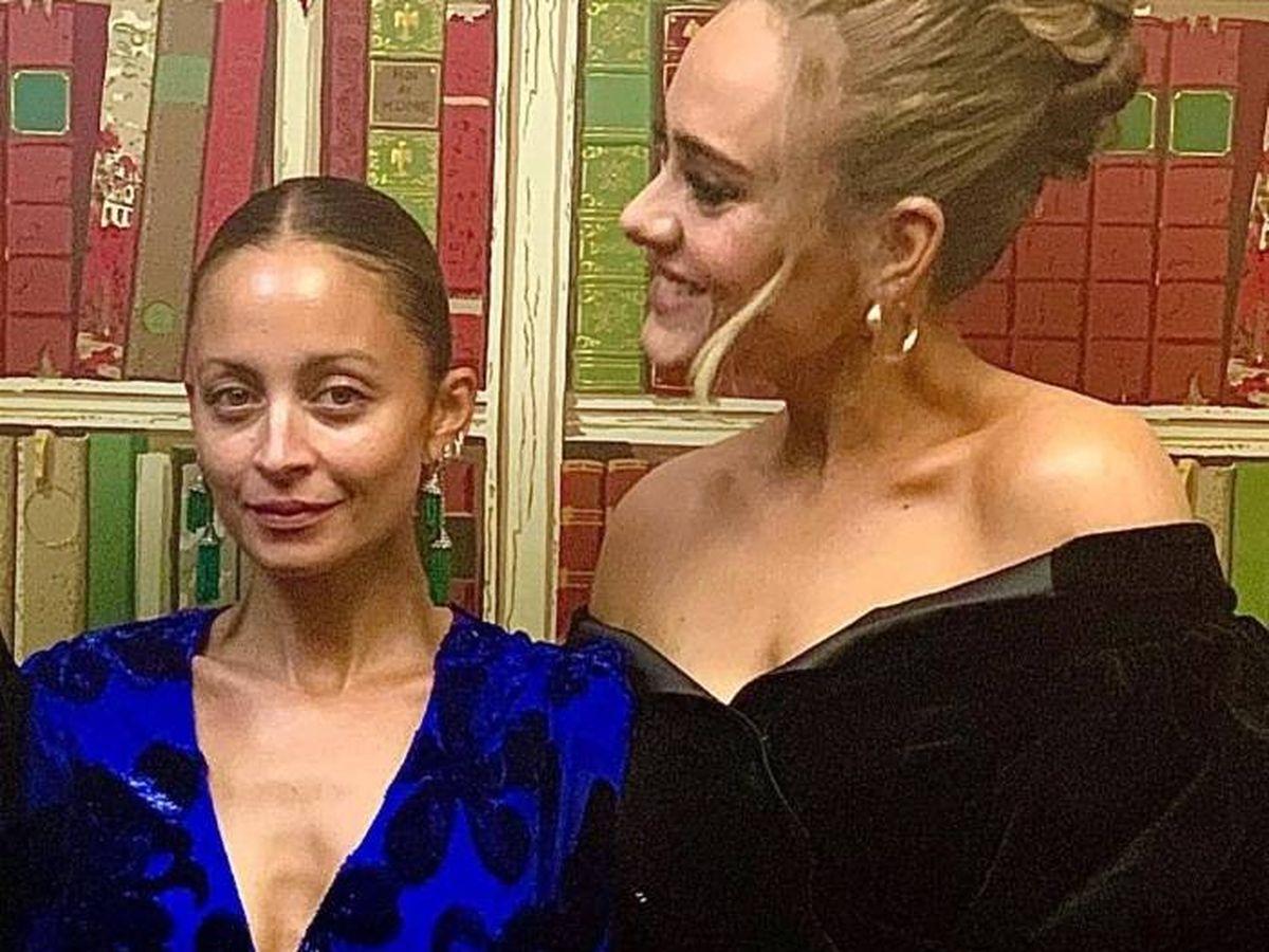 Foto:  Nicole Richie y Adele. (Instagram @adele)