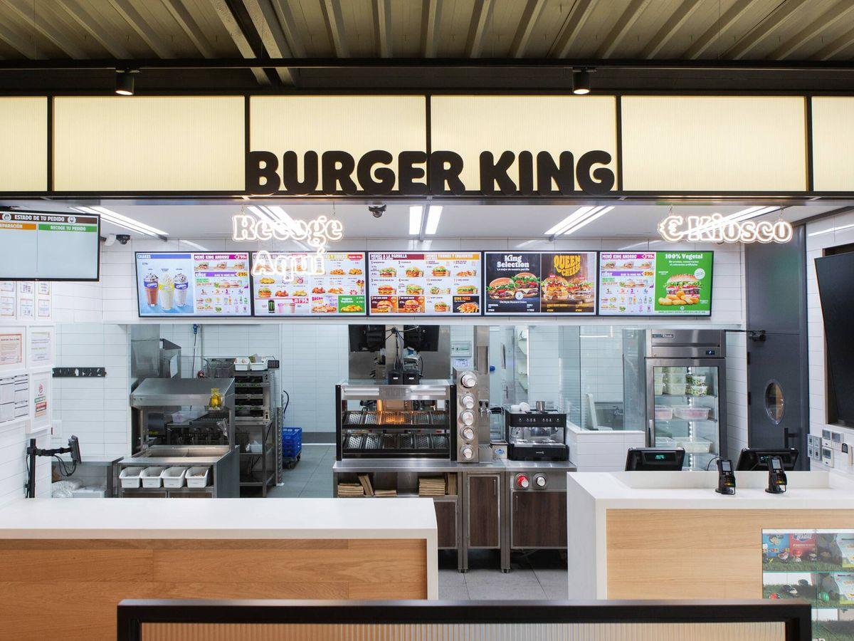Foto: Interior de un restaurante de Burger King.