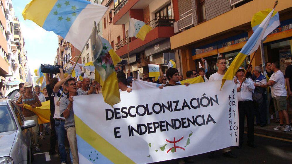 Foto: Manifestación independentista en Canarias.