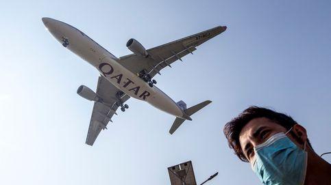Un avión tomando tierra en Nepal