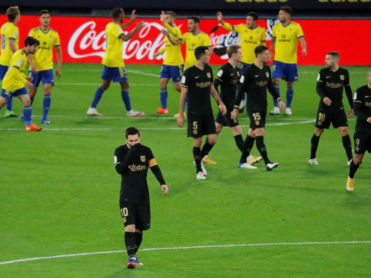 Foto: Messi, durante un momento del partido. (Reuters)