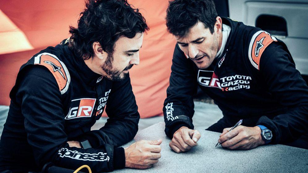 Foto: Alonso tendrá de copiloto a Coma y con él disputa ya la lichtenburg 400. (EFE)