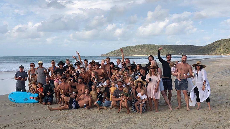 Las familias de amigos y allegados, reunidas. (Instagram)