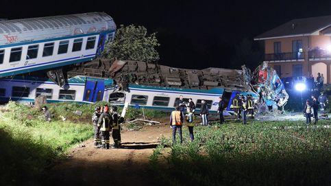 Dos muertos y decenas de heridos en un accidente de tren en Italia