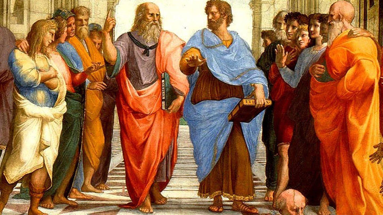 Sócrates y Aristóteles en el cuadro 'La escuela de Atenas'.