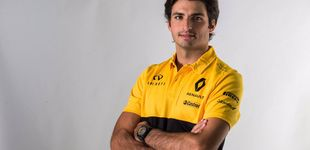 Post de Carlos Sainz, para empezar: adiós a la imagen Red Bull, hola