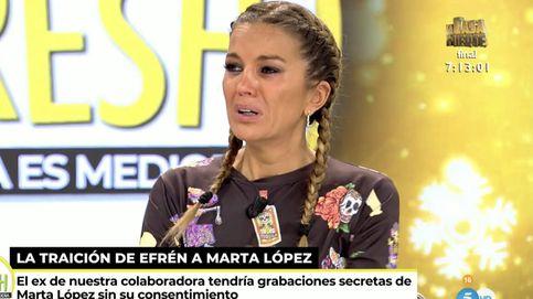 Marta López, destrozada por Efrén, rompe a llorar en 'Ya es mediodía'