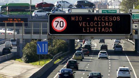 Madrid mantendrá el sábado a 70 km/h la velocidad en la M-30 por alta contaminación