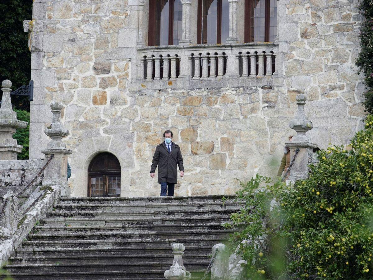 Foto: El abogado del Estado jefe en Galicia, Javier Suárez , el 11 de noviembre en el Pazo de Meirás. (EFE)