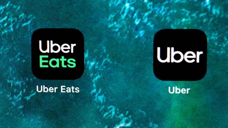 Iconos de Uber Eats y de Uber. (Reuters)