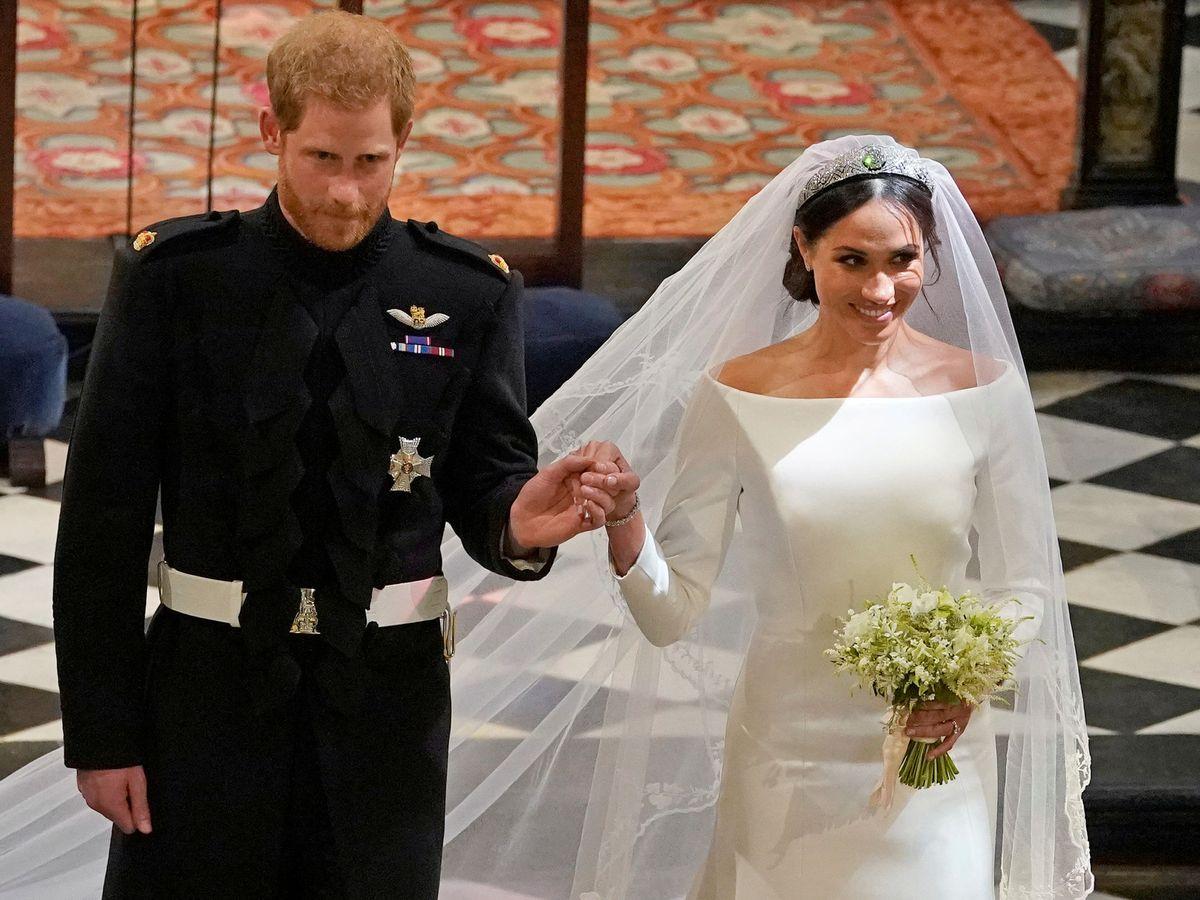 Foto: Los duques de Sussex, el día de su boda. (Reuters)
