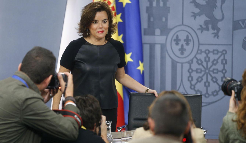 La vicepresidenta del Gobierno en funciones, Soraya Saénz de Santamaría. (EFE)