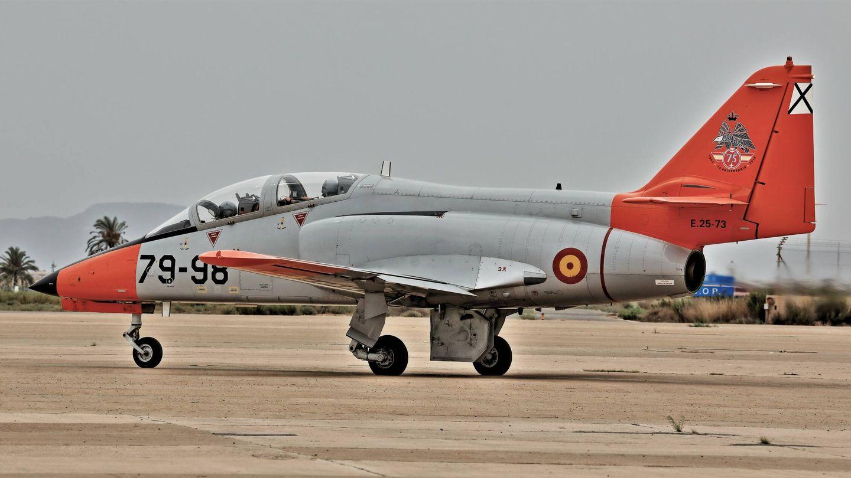 El avión de entrenamiento actual, el obsoleto C-101. (J. Fernández)