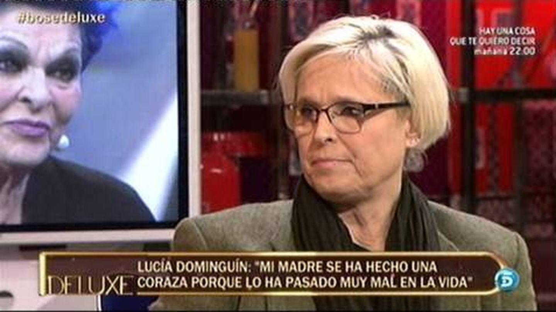 Lucía Dominguín, en 'Sálvame Deluxe'. (Mediaset España)