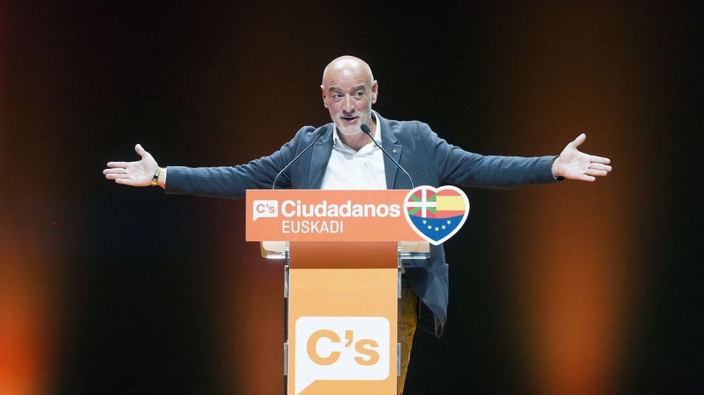 Foto: El candidato a lendakari de Ciudadanos, Nicolás de Miguel. (EFE)