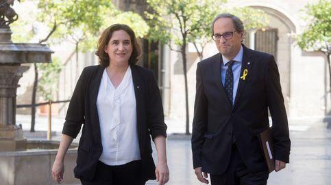 El 'president' Torra dribla a Colau y no le concreta medidas sobre Barcelona