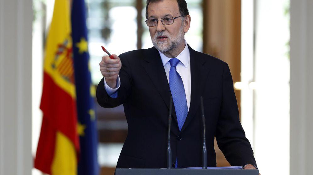 Foto: El presidente del Gobierno, Mariano Rajoy, durante una comparecencia en Moncloa. (EFE)