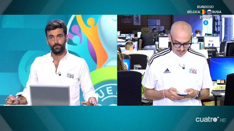 Ricardo Reyes y Menottinto, en 'Deportes Cuatro'. (Mediaset España)