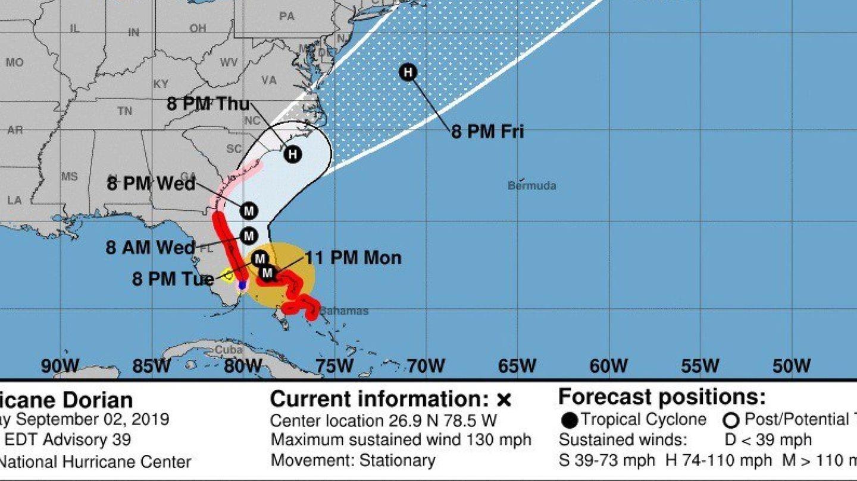 Ruta que seguirá el huracán. (EFE)