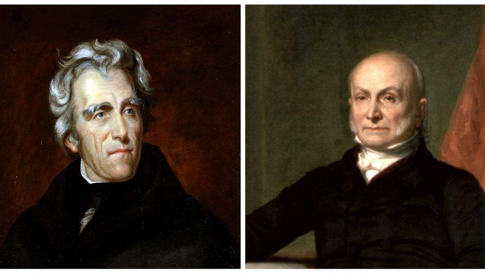 Foto: Andrew Jackson y John Quincy Adams.