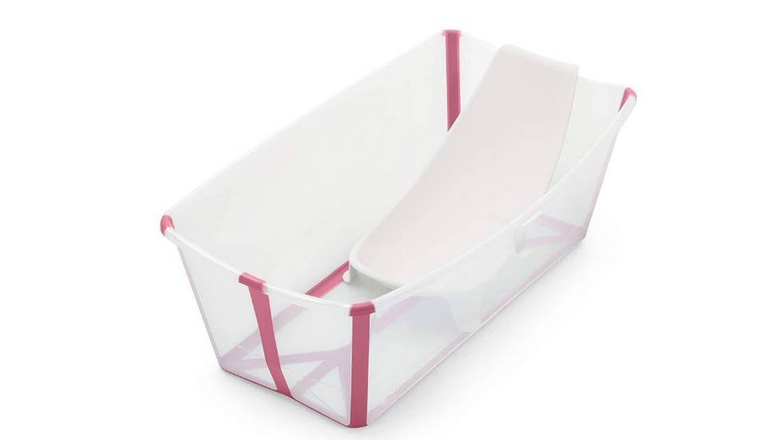 Bañera portátil para bebé con asiento para recién nacidos Stokke