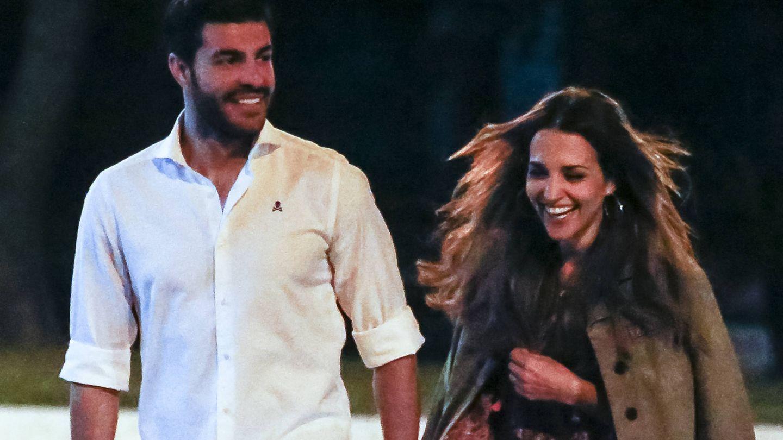 Paula, feliz como una perdiz, con Miguel Torres. (Gtres)