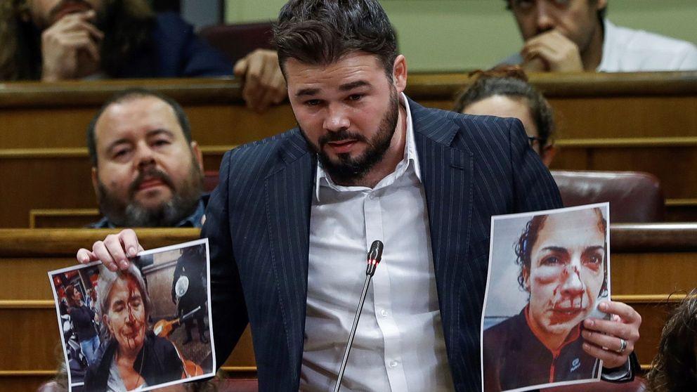 Rufián afirma que los policías desplegados en Cataluña son salvajes que apalean