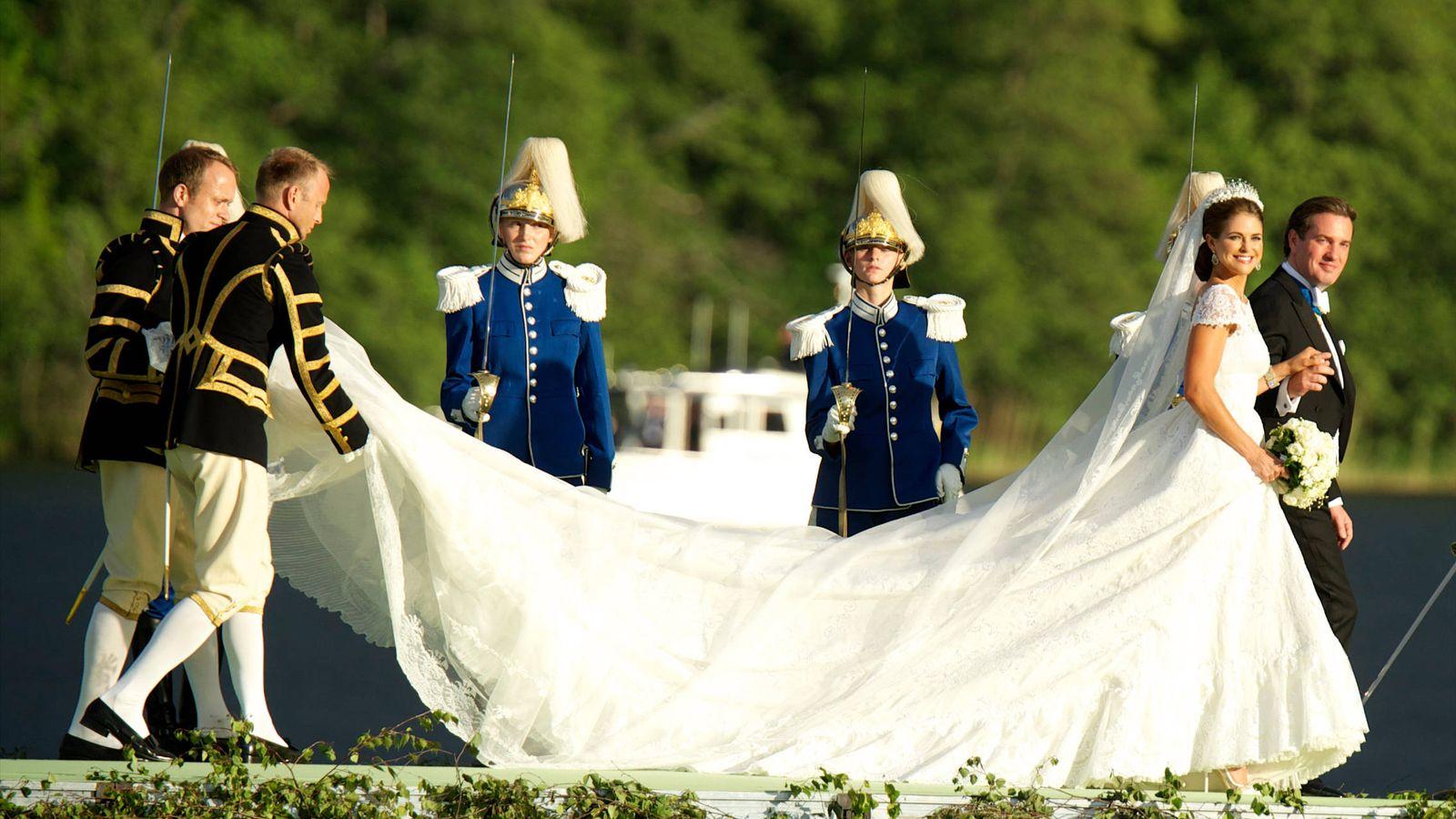 Foto: La princesa Magdalena y Chris O'Neill el día de su boda. (Limited Pictures)