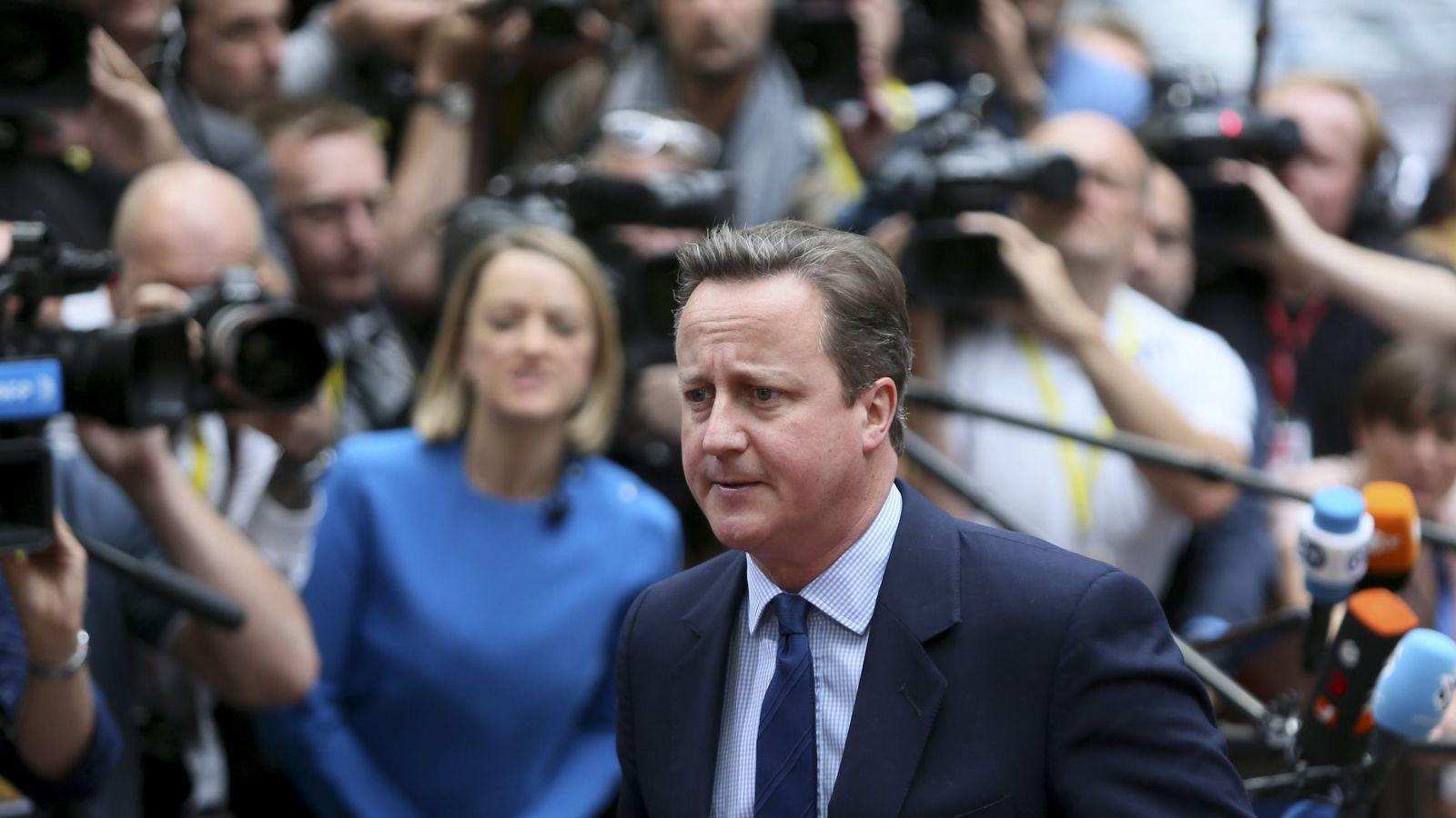 Foto: El primer ministro británico David Cameron a su llegada al Consejo Europeo. (EFE)