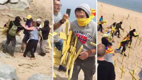 Els Segadors del Maresme: así es la brigada que retira las cruces amarillas