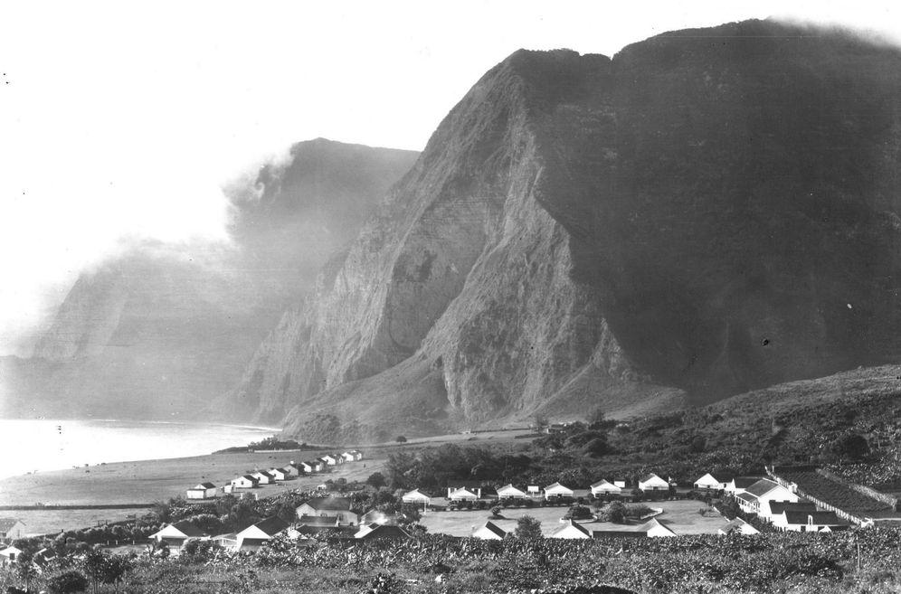 Foto: La colonia de Kalaupapa antes del abandono de la cuarentena. (Historic Hawaii Foundation)