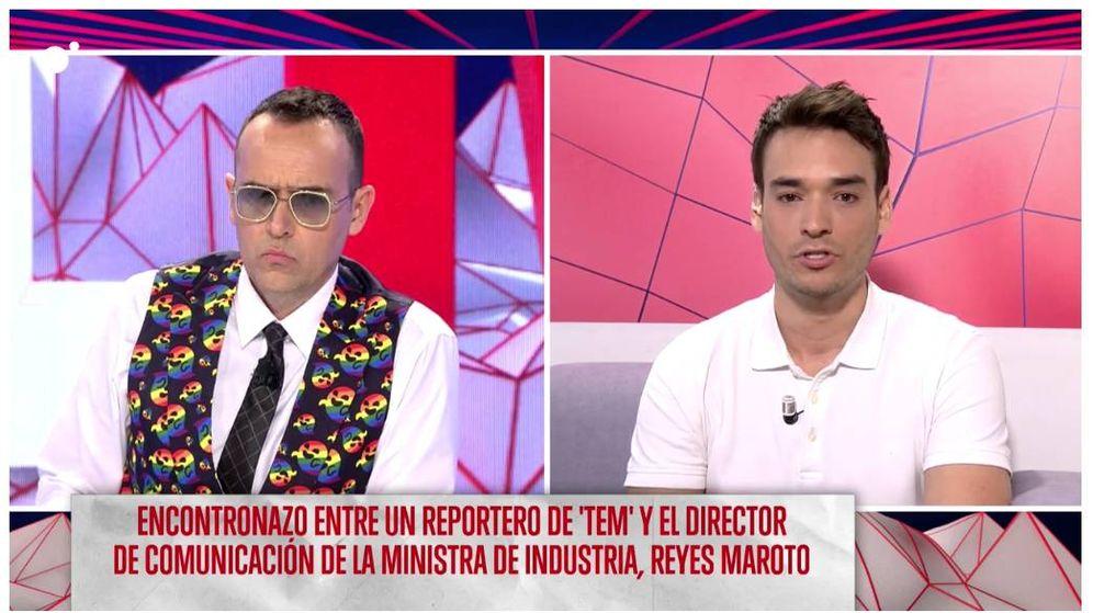 Foto: Risto Mejide y su reportero David Moreno. (Mediaset)